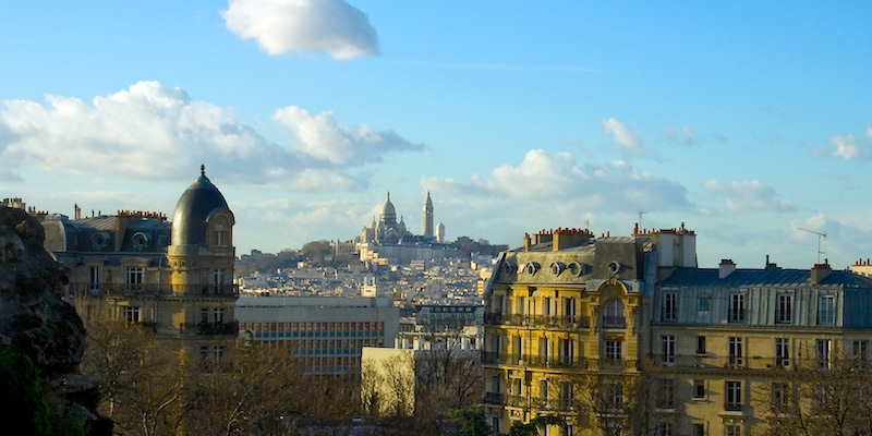 Sacré Coeur, from Buttes-Chaumont, photo by Mark Craft
