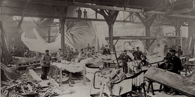 Statue of Liberty Workshop, from Library of Congress