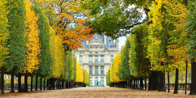 Tuileries in the fall