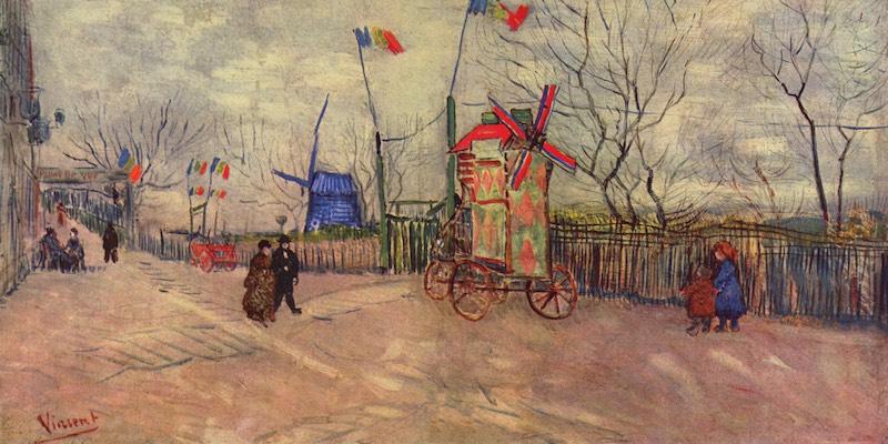 Van Gogh Scenes of Montmartre, Le Moulin a Poivre