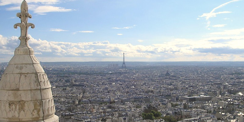 The Paris Skyline from Montmartre, photo by gryffindor