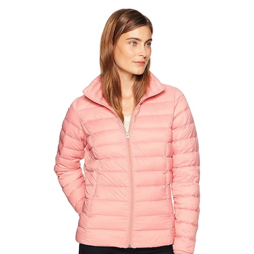 Quilted pink jacket