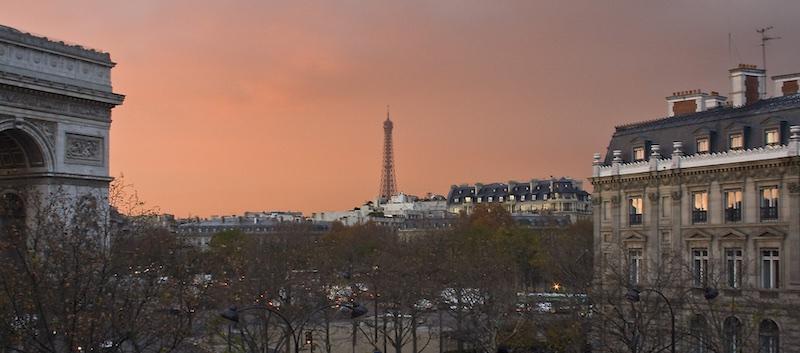 Sunrise at 4 Avenue Carnot, 17th Arrondissement, 2007