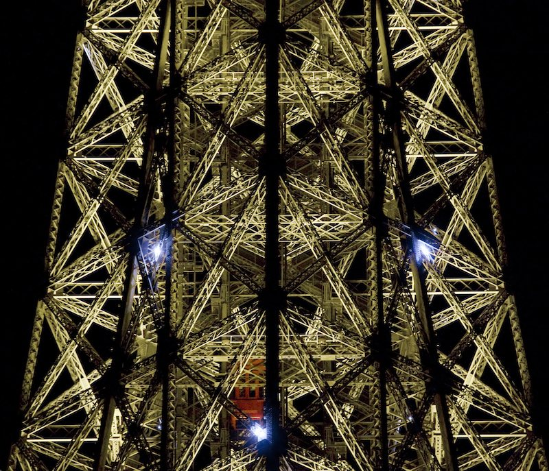 The Inner Eiffel Tower at Night, 2009