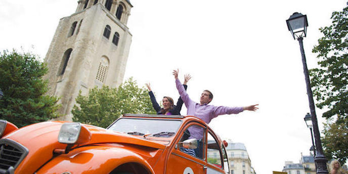 Tour Paris in an Iconic Citroen 2CV