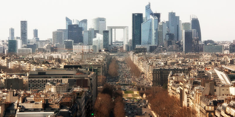 View from Arc de Triomphe, Photo by Mark Craft