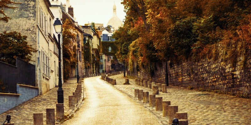 Montmartre in the autumn