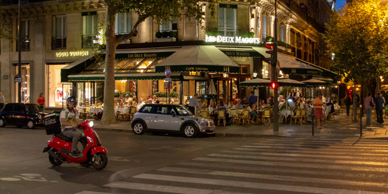 Les Deux Magots, photo by Mark Craft
