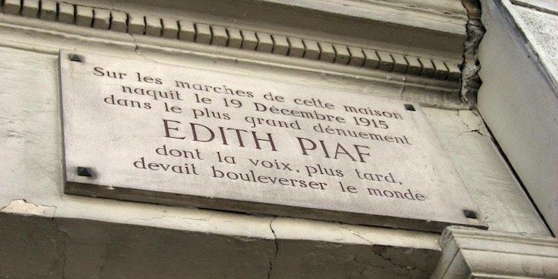 Edith Piaf plaque