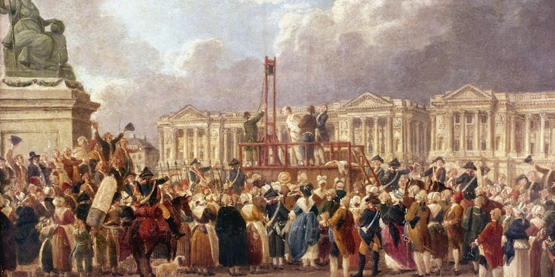 The Guillotine on Place de la Concorde