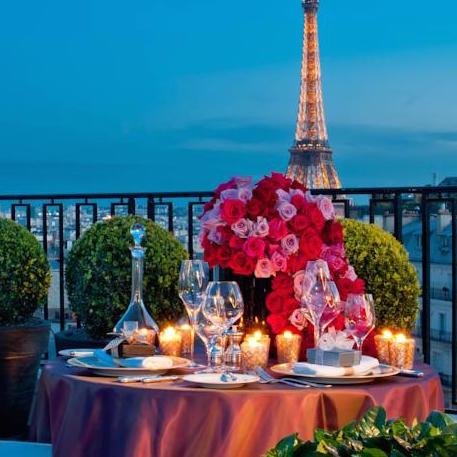 George V Hotel Eiffel Tower View