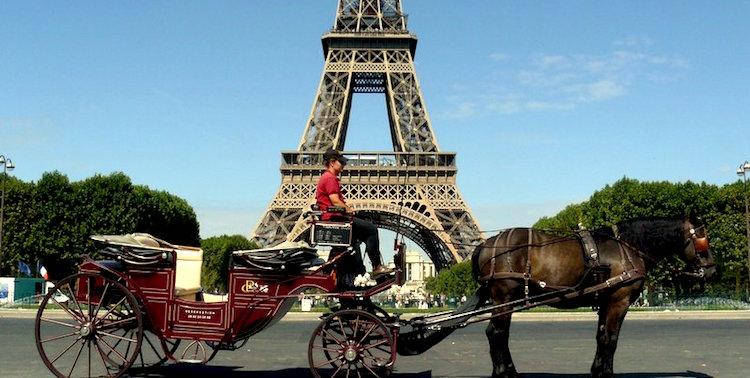 Horse and Carriage Ride Through Paris