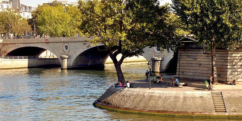 Ile Saint-Louis, Wikimedia Commons, photo by Moonik