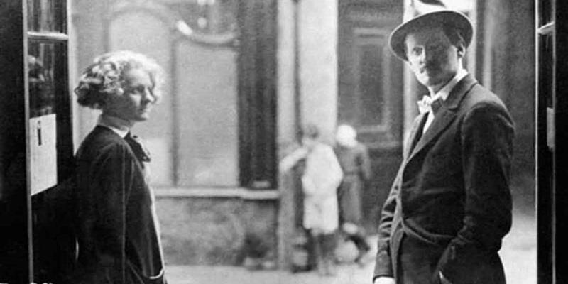 James Joyce & Sylvia Beach, 1925