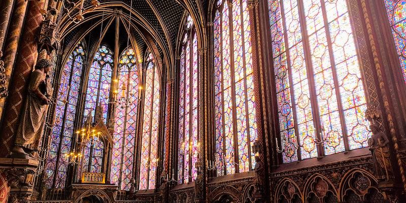 La Sainte Chapelle, Wikimedia Commons, photo by GruntXIII