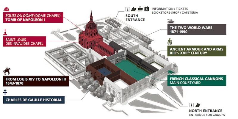 Les Invalides Paris Map