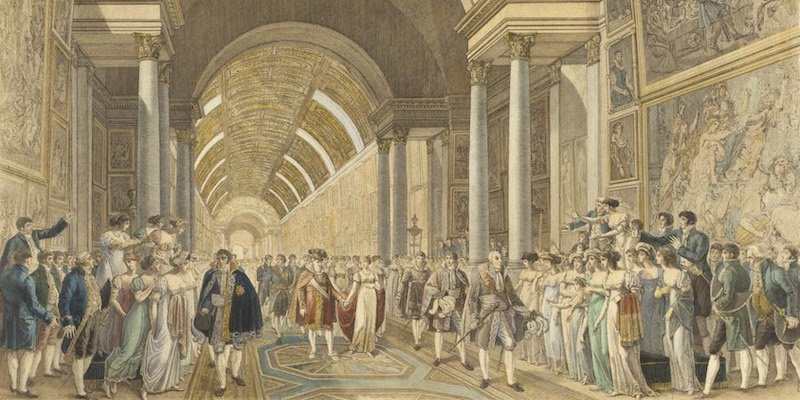 Marriage of the Emperor Napoleon I to the Archduchess Marie Louise of Austria in the Grand Gallery of the Louvre