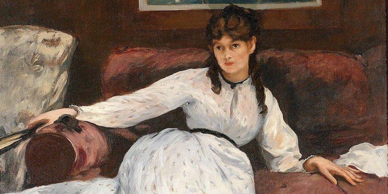 Manet, Berthe Morisot in Le Repos, detail