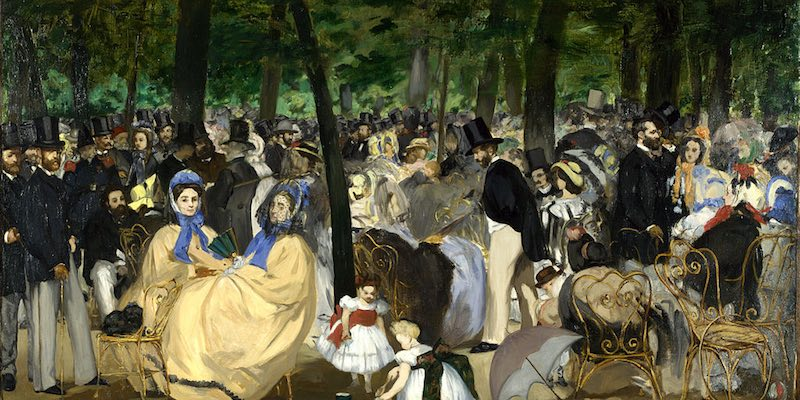 Music in the Tuileries, Manet