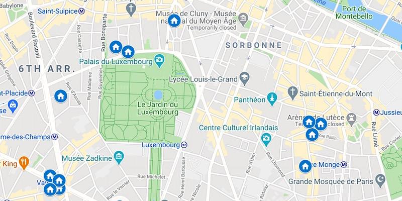 View Map of Left Bank Literary Promenade