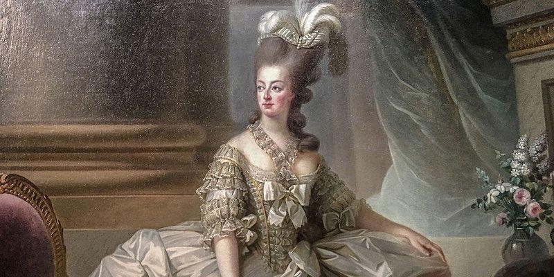 Marie Antoinette in 1778, by Elisabeth Vigee Le Brun
