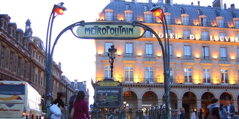 Palais Royal Musee du Louvre Metro Entrance, photo by Simon Law
