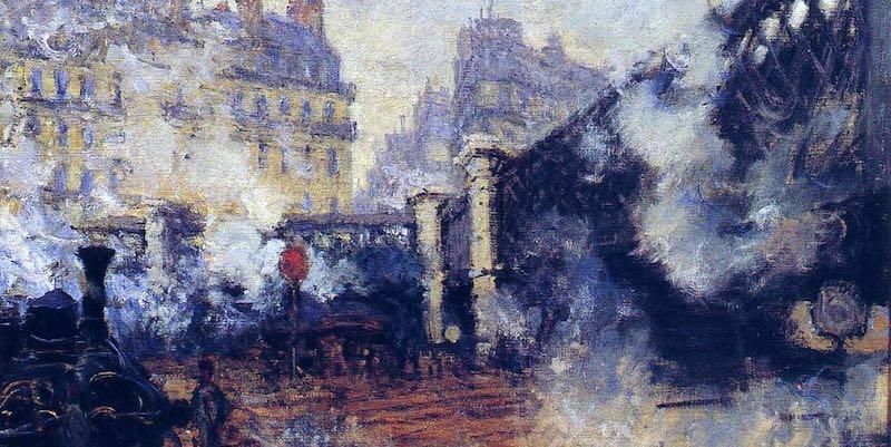 Pont de l'Europe by Monet