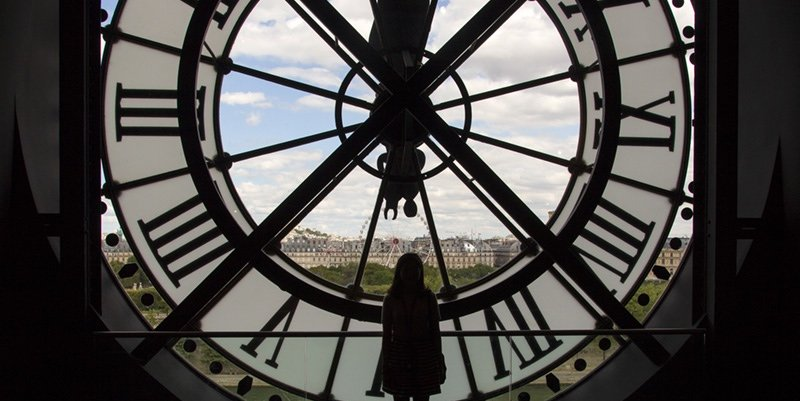Musée d'Orsay clock from interior, photo by Mark Craft