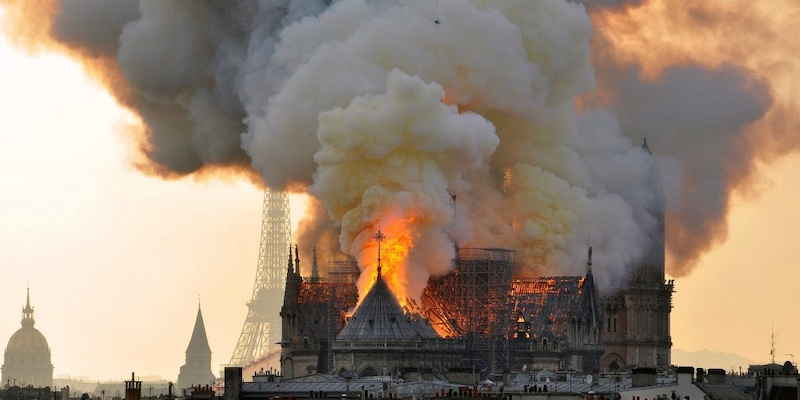 Fire at Notre Dame April 19, 2019