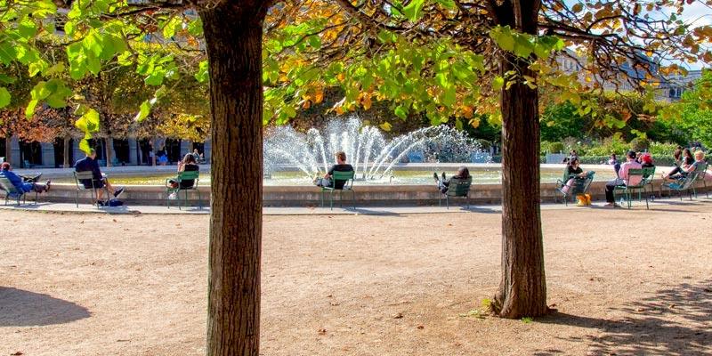 Palais Royal garden & fountain