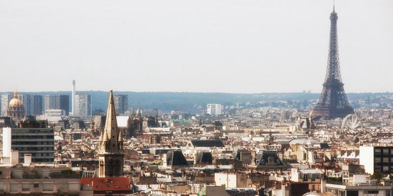 The Paris Skyline from Parc de Belleville