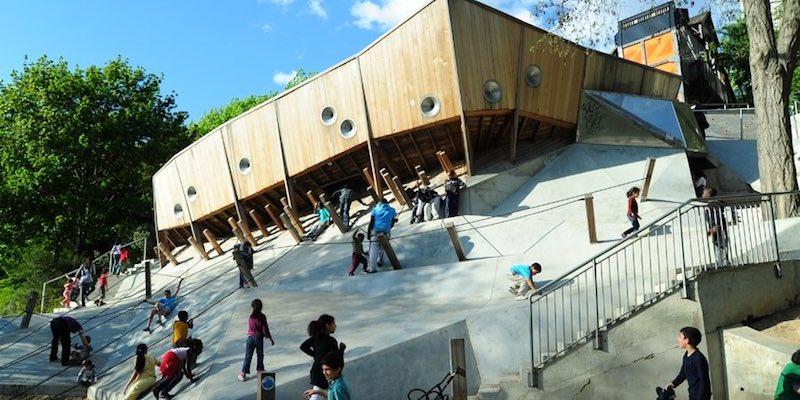 Slide at Parc de Belleville