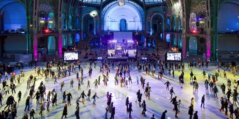 Ice Sakting at the Grand Palais