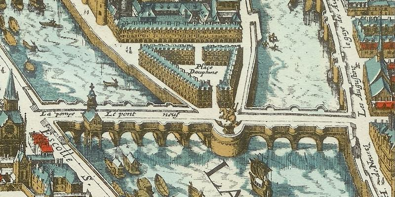 Place Dauphin, map from 1615