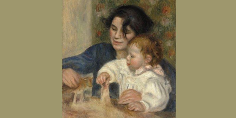 Gabrielle and the Artist's Son, Jean