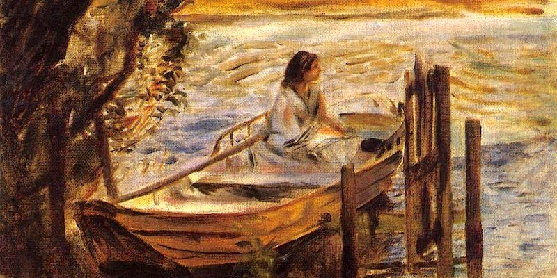 Renoir, Jeune Femme dans une Barque