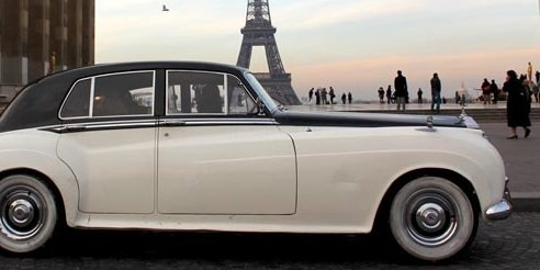 champagne in a Rolls