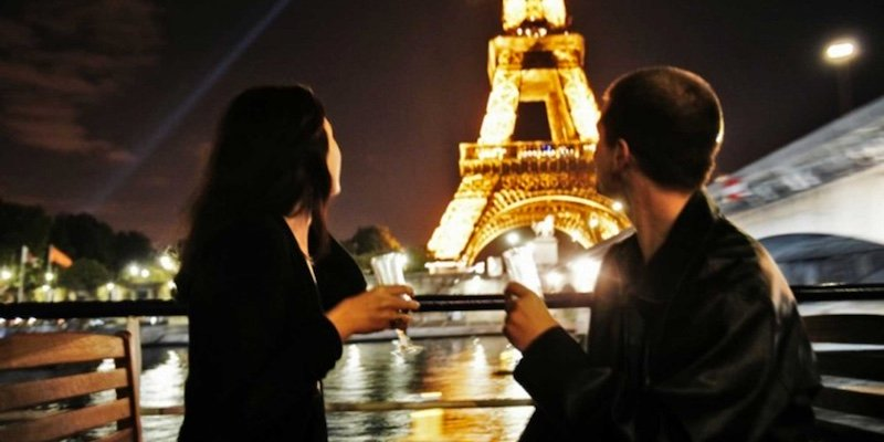 Eiffel Tower + Champagne River Cruise at Night
