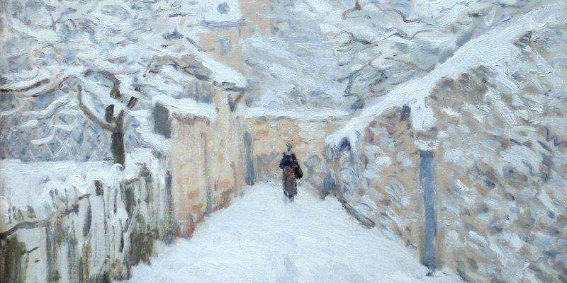 Sisley, La Neige a Louveciennes
