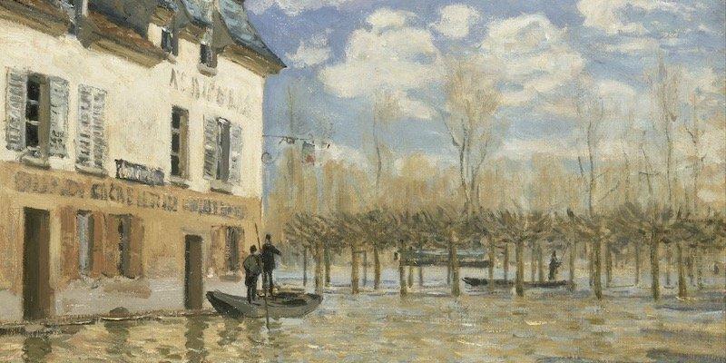 Sisley, La Barque Pendant l'Inondation