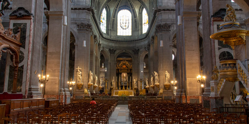 Saint-Sulpice Interior, photo by Mark Craft