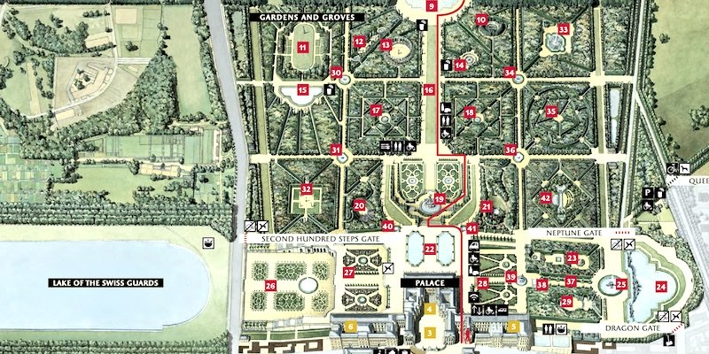 Large Map of the Gardens and Park
